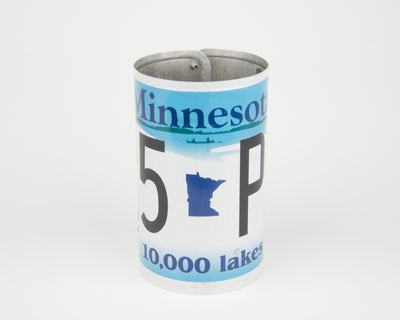 MINNESOTA CANISTER  Recycled License Plate Art - Unique Pl8z