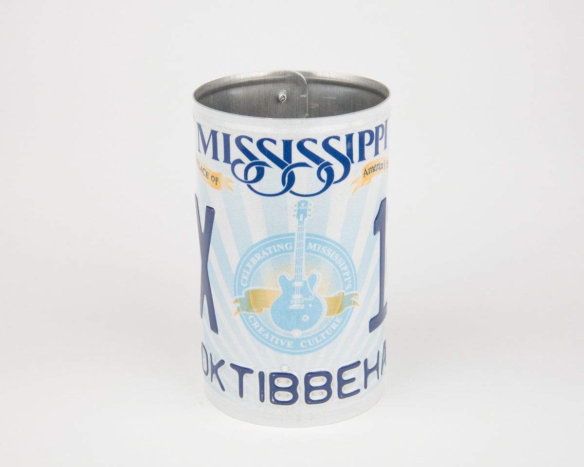 MISSISSIPPI CANISTER  Recycled License Plate Art - Unique Pl8z