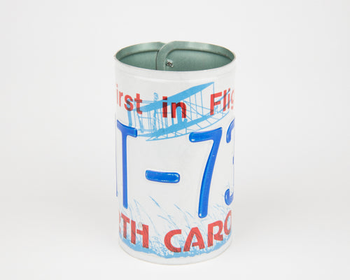 NORTH CAROLINA CANISTER  Recycled License Plate Art - Unique Pl8z