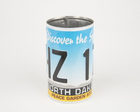 North Dakota License Plate Pencil Holder - North Dakota Souvenir - Father's Day gift Idea - North Dakota Teacher Gift idea - North Dakota Gift Idea  Recycled License Plate Art - Unique Pl8z