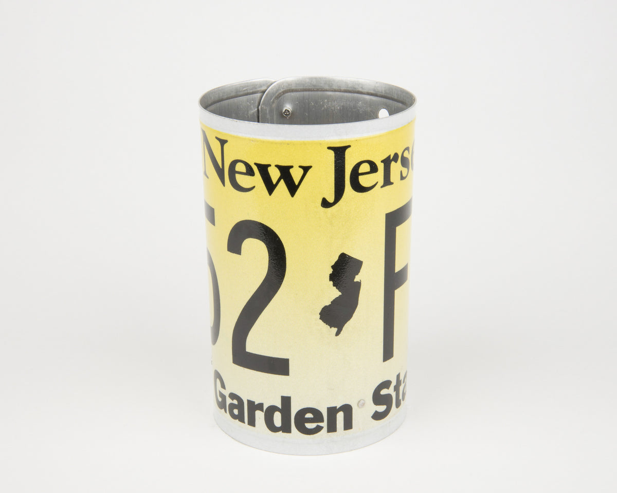 NEW JERSEY CANISTER  Recycled License Plate Art - Unique Pl8z