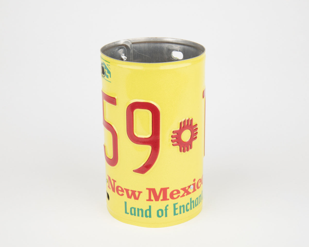 NEW MEXICO CANISTER  Recycled License Plate Art - Unique Pl8z