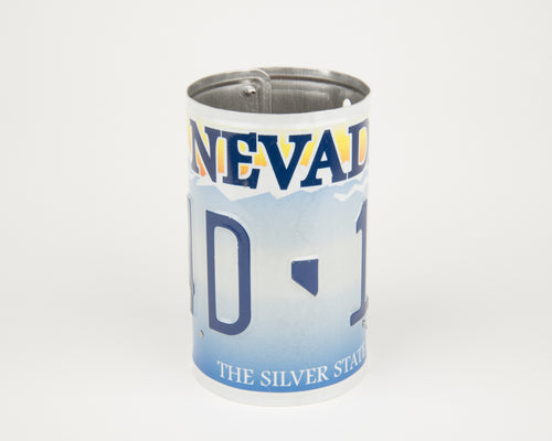 NEVADA CANISTER  Recycled License Plate Art - Unique Pl8z