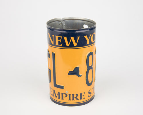 NEW YORK CANISTER  Recycled License Plate Art - Unique Pl8z