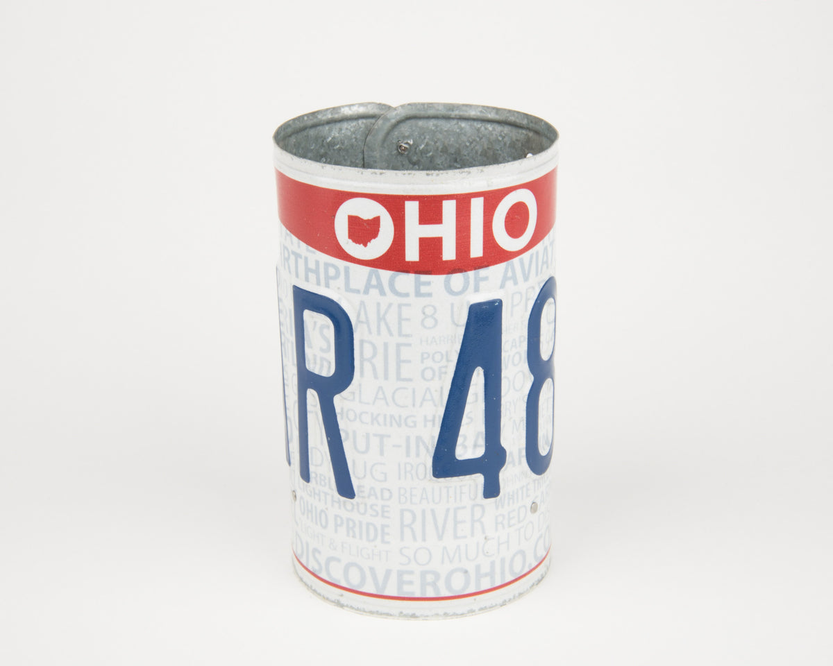 OHIO CANISTER  Recycled License Plate Art - Unique Pl8z