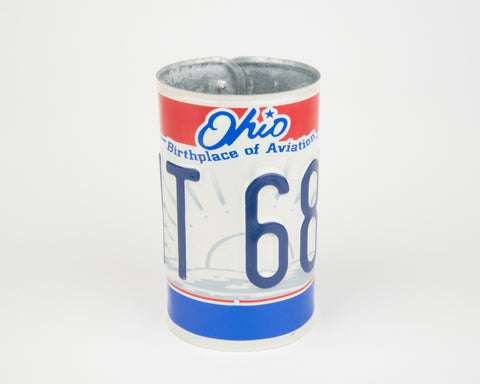 Ohio License Plate Pencil Holder - Ohio Souvenir - Father's Day gift Idea - Ohio Teacher Gift idea - Ohio Gift Idea