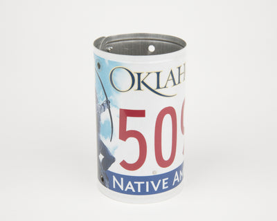 OKLAHOMA CANISTER  Recycled License Plate Art - Unique Pl8z
