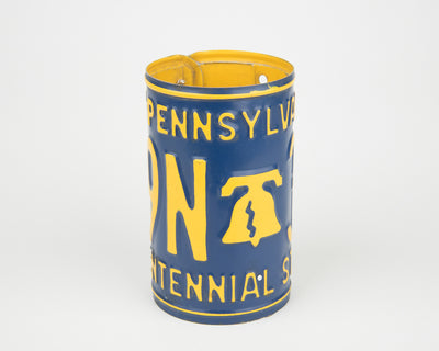 PENNSYLVANIA CANISTER  Recycled License Plate Art - Unique Pl8z
