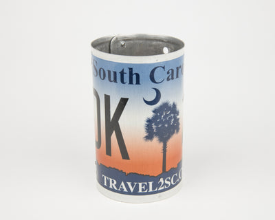 SOUTH CAROLINA CANISTER  Recycled License Plate Art - Unique Pl8z
