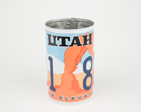 Utah License Plate Pencil Holder - Utah Souvenir - Father's Day gift Idea - Utah Teacher Gift idea - Utah Gift Idea  Recycled License Plate Art - Unique Pl8z