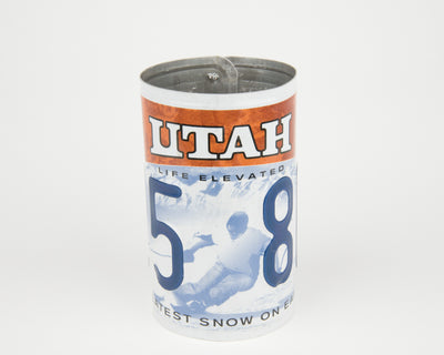 UTAH CANISTER  Recycled License Plate Art - Unique Pl8z