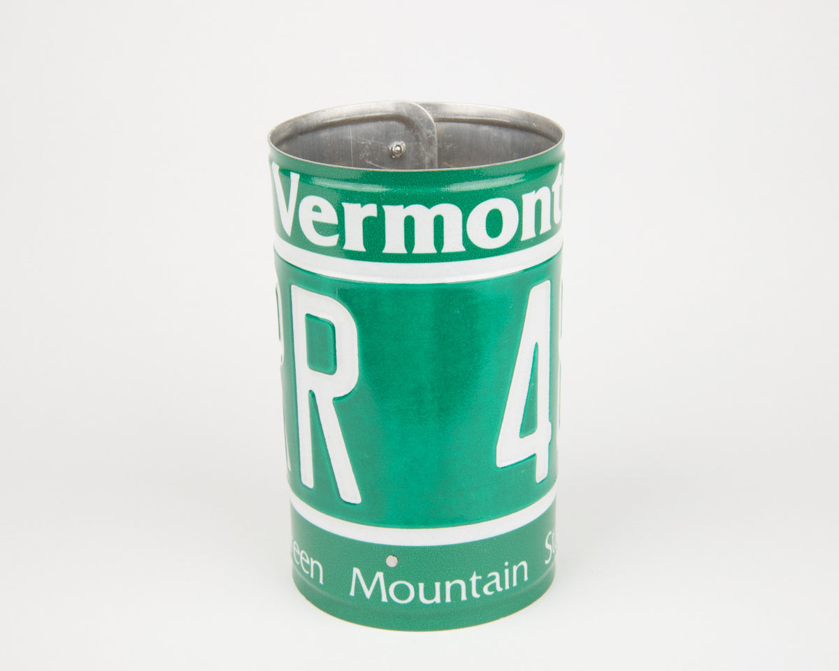 VERMONT CANISTER  Recycled License Plate Art - Unique Pl8z