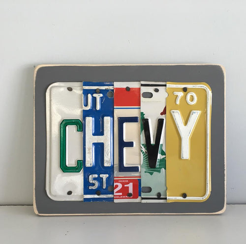 CHEVY by Unique Pl8z  Recycled License Plate Art - Unique Pl8z