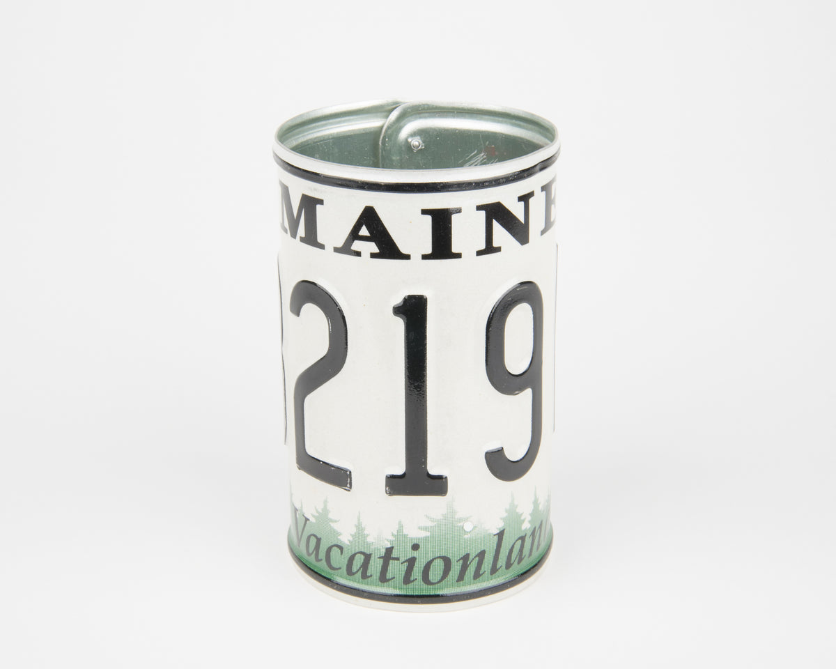 MAINE CANISTER  Recycled License Plate Art - Unique Pl8z