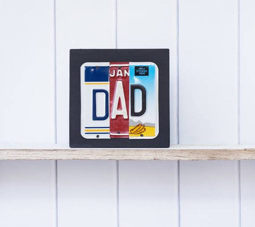 DAD by Unique Pl8z  Recycled License Plate Art - Unique Pl8z