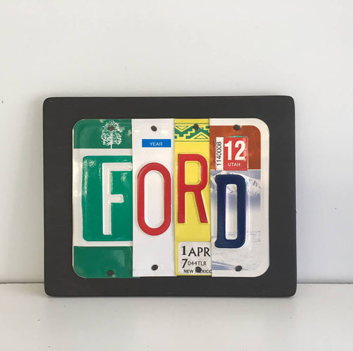 FORD by Unique Pl8z  Recycled License Plate Art - Unique Pl8z