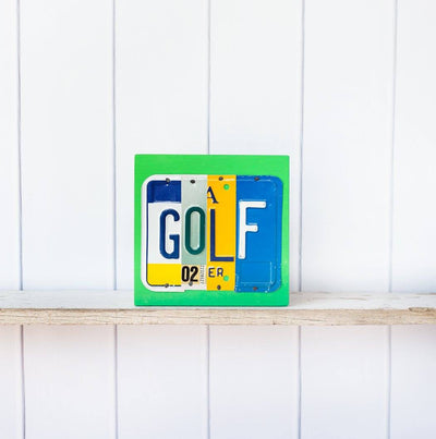 GOLF by Unique Pl8z  Recycled License Plate Art - Unique Pl8z