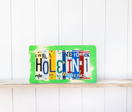 HOLE IN 1 by Unique Pl8z  Recycled License Plate Art - Unique Pl8z