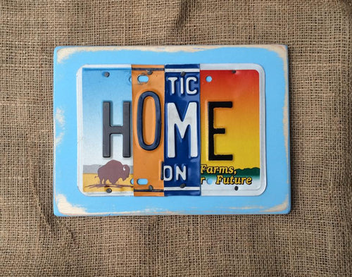 HOME by Unique Pl8z  Recycled License Plate Art - Unique Pl8z