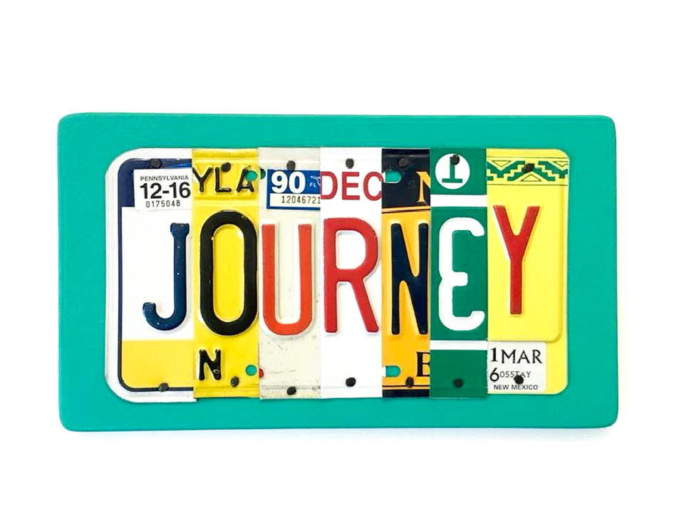 JOURNEY by Unique Pl8z  Recycled License Plate Art - Unique Pl8z