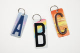 Letters A - Z Key Chain - SET OF 7 KEY CHAINS - License Plate Key Chain - You Choose the Letters - Bridal Party Gift - Groomsmen Gift - Wedding Favor - Bridesmaid gift - Stocking Stuffers - Gift Tags - Teacher gifts