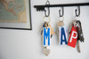 SET OF 7 KEY CHAINS  Recycled License Plate Key Chain - Unique Pl8z