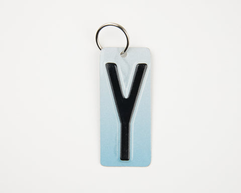 Letter Y License Plate Key Chain, Initial Y Key Chain, Zipper Charm, Personalized key chain, Stocking Stuffer  Recycled License Plate Key Chain - Unique Pl8z