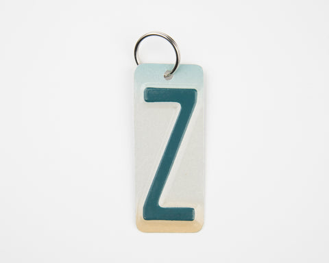 Letter Z License Plate Key Chain, Initial Z Key Chain, Zipper Charm, Personalized key chain, Stocking Stuffer  Recycled License Plate Key Chain - Unique Pl8z