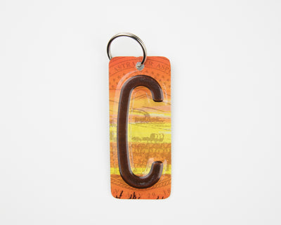 LETTER C KEY CHAIN  Recycled License Plate Key Chain - Unique Pl8z