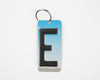 LETTER E KEY CHAIN  Recycled License Plate Key Chain - Unique Pl8z