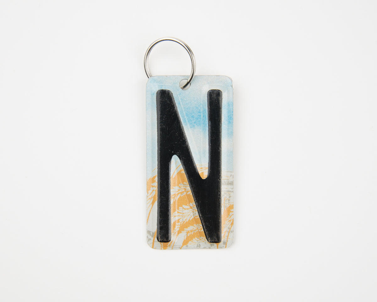 LETTER N KEY CHAIN  Recycled License Plate Key Chain - Unique Pl8z