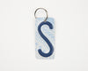 LETTER S KEY CHAIN  Recycled License Plate Key Chain - Unique Pl8z