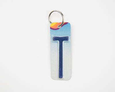 LETTER T KEY CHAIN  Recycled License Plate Key Chain - Unique Pl8z