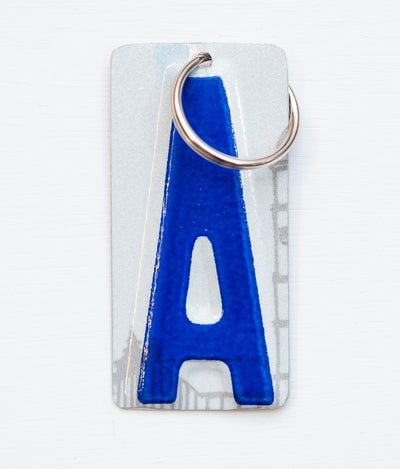 LETTER A KEY CHAIN  Recycled License Plate Key Chain - Unique Pl8z