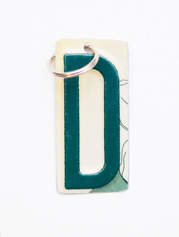 Letter D License Plate Key Chain, Initial Key Chain, Monogram accessory, Personalized key chain