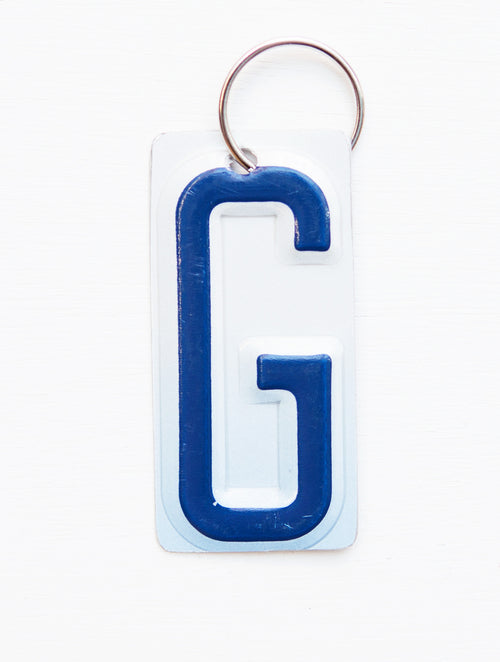 LETTER G KEY CHAIN  Recycled License Plate Key Chain - Unique Pl8z