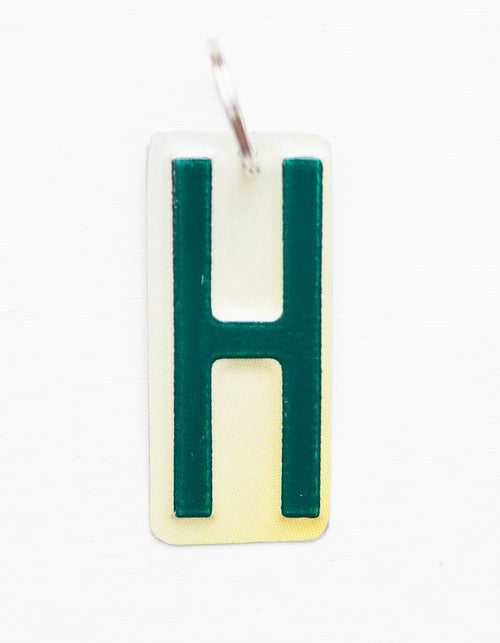 LETTER H KEY CHAIN  Recycled License Plate Key Chain - Unique Pl8z