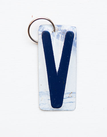 Letter V License Plate Key Chain, Initial Key Chain, Monogram accessory, Personalized key chain