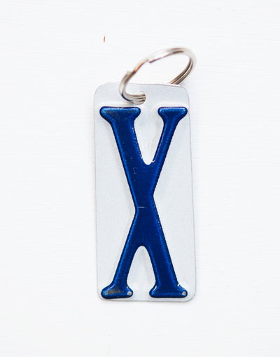 LETTER X KEY CHAIN  Recycled License Plate Key Chain - Unique Pl8z