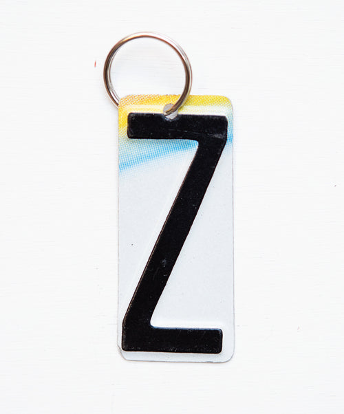 LETTER Z KEY CHAIN  Recycled License Plate Key Chain - Unique Pl8z