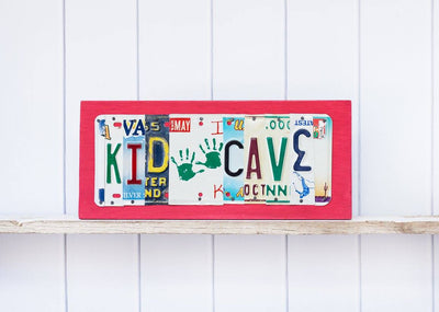 KID CAVE by Unique Pl8z  Recycled License Plate Art - Unique Pl8z