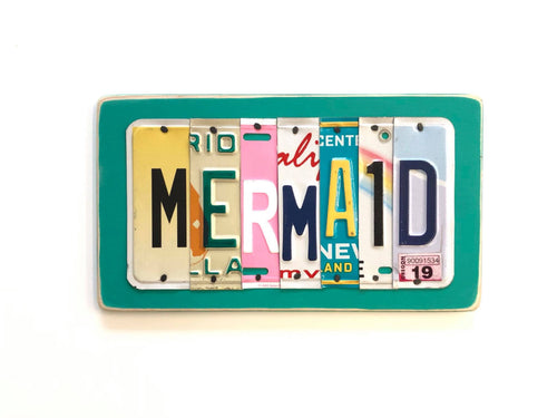 MERMAID by Unique PL8z  Recycled License Plate Art - Unique Pl8z