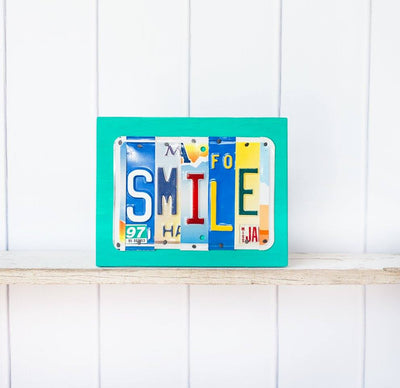 SMILE by Unique Pl8z  Recycled License Plate Art - Unique Pl8z