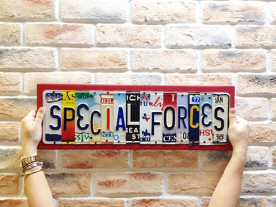 SPECIAL FORCES by Unique Pl8z  Recycled License Plate Art - Unique Pl8z