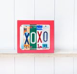 XOXO license plate sign by Unique Pl8z  Recycled License Plate Art - Unique Pl8z