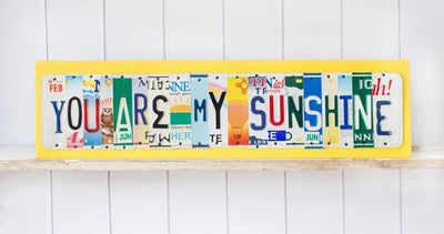 Custom Order - 16 letter sign - you choose the letters  Recycled License Plate Art - Unique Pl8z