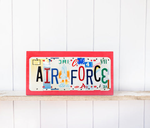 AIR FORCE License Plate Sign by Unique Pl8z  Recycled License Plate Art - Unique Pl8z