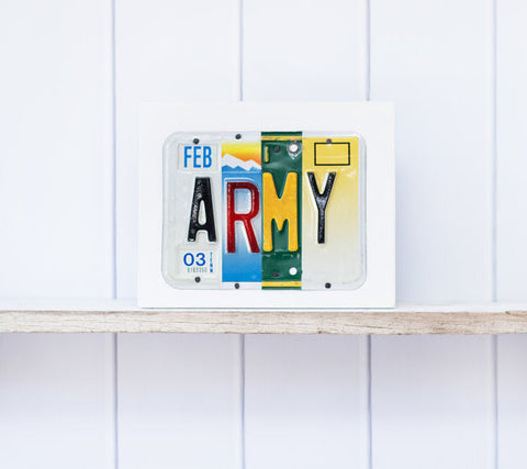 ARMY License Plate Sign by Unique Pl8z  Recycled License Plate Art - Unique Pl8z