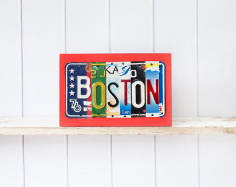 BOSTON license plate art by UNIQUE PL8Z