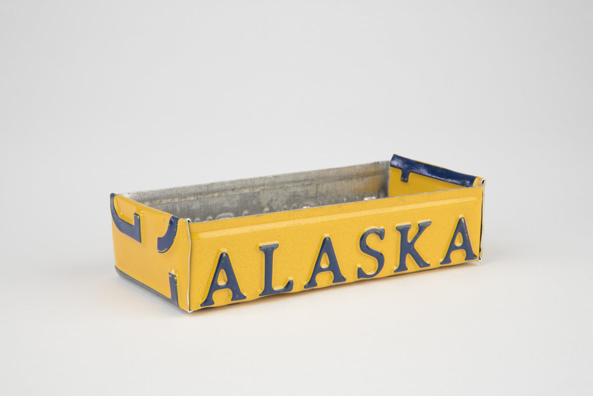 ALASKA TRAY  Recycled License Plate Art - Unique Pl8z
